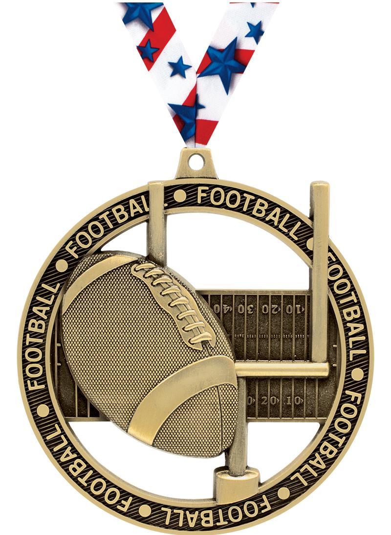 "3""MASSIVE RIMZ FOOTBALL GOLD"