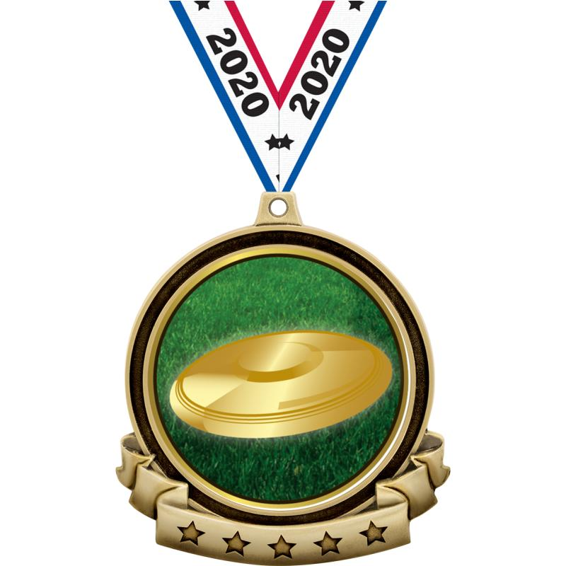"""2.6"""" BANNER INSERT MEDAL GOLD"""