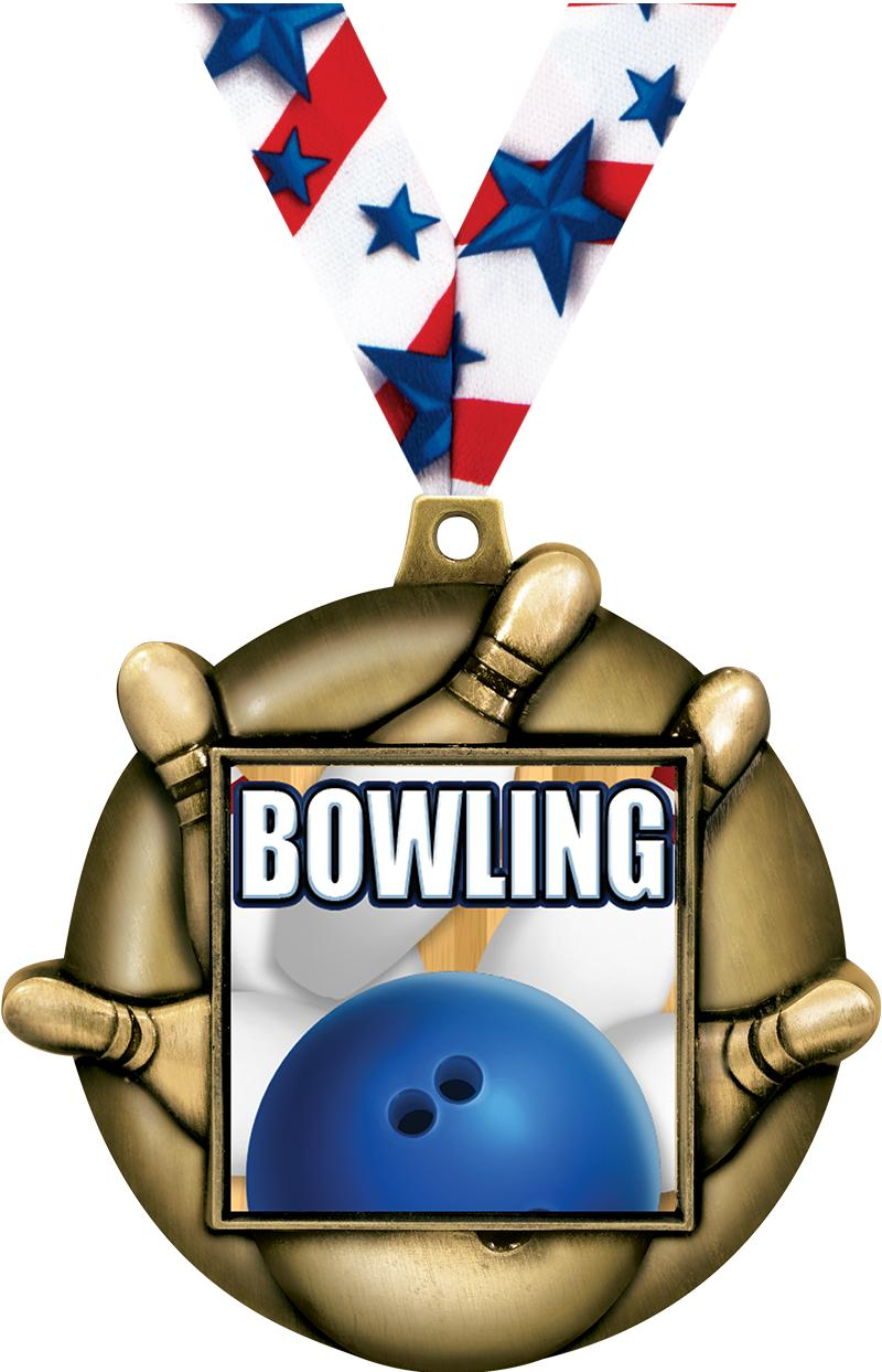 "2.25""BOWLING MAJESTIC 3D MD GD"