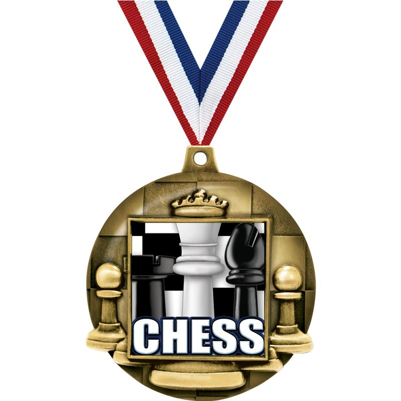 """2.25""""CHESS MAJESTIC 3D MDL GD"""