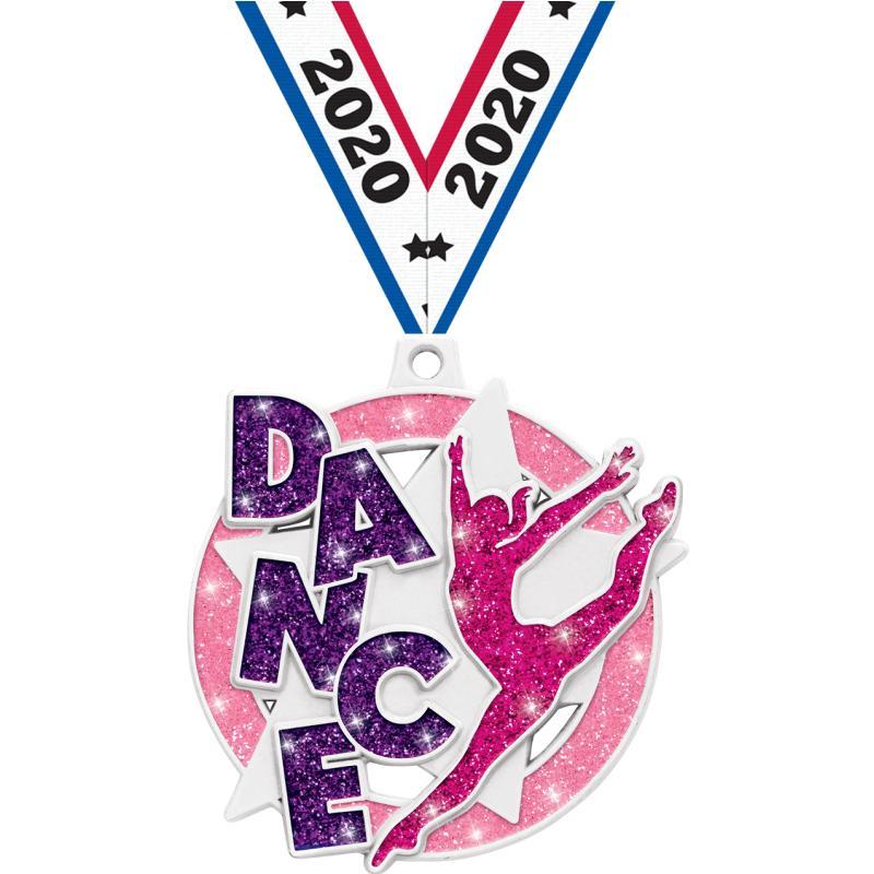 """2"""" DANCE SPARKLER GLTR MDL WHT"""