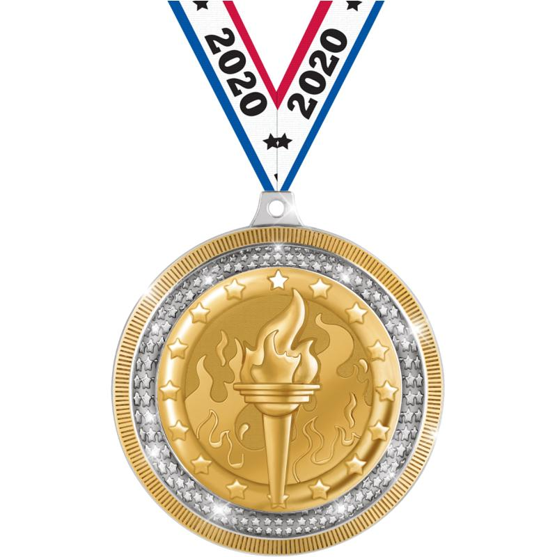 """2.75""""ASBURY INS MDL SLVR&GOLD"""