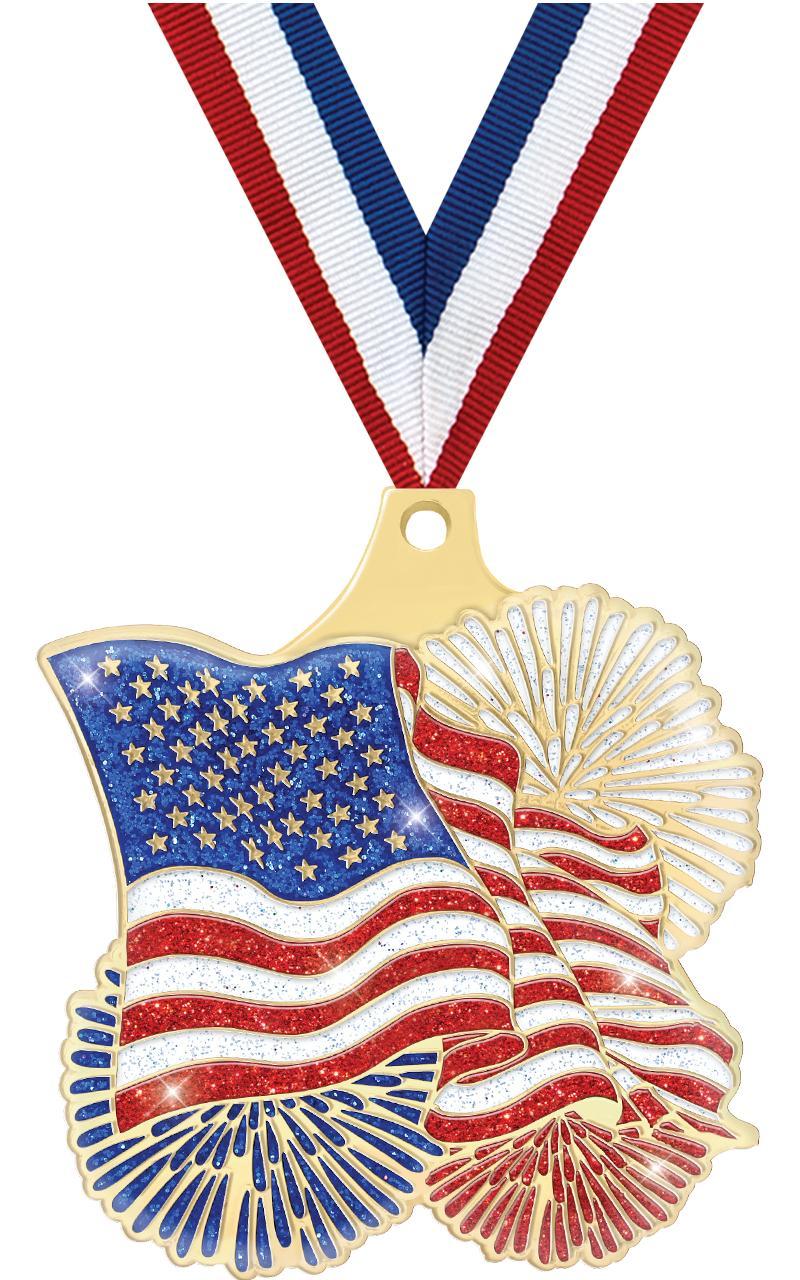 """2"""" FLAG GOLD MEDAL"""