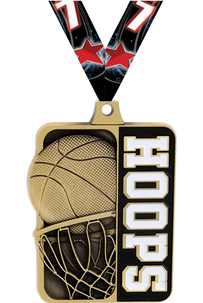 "2 1/4"" Basketball Sportastic Medal"
