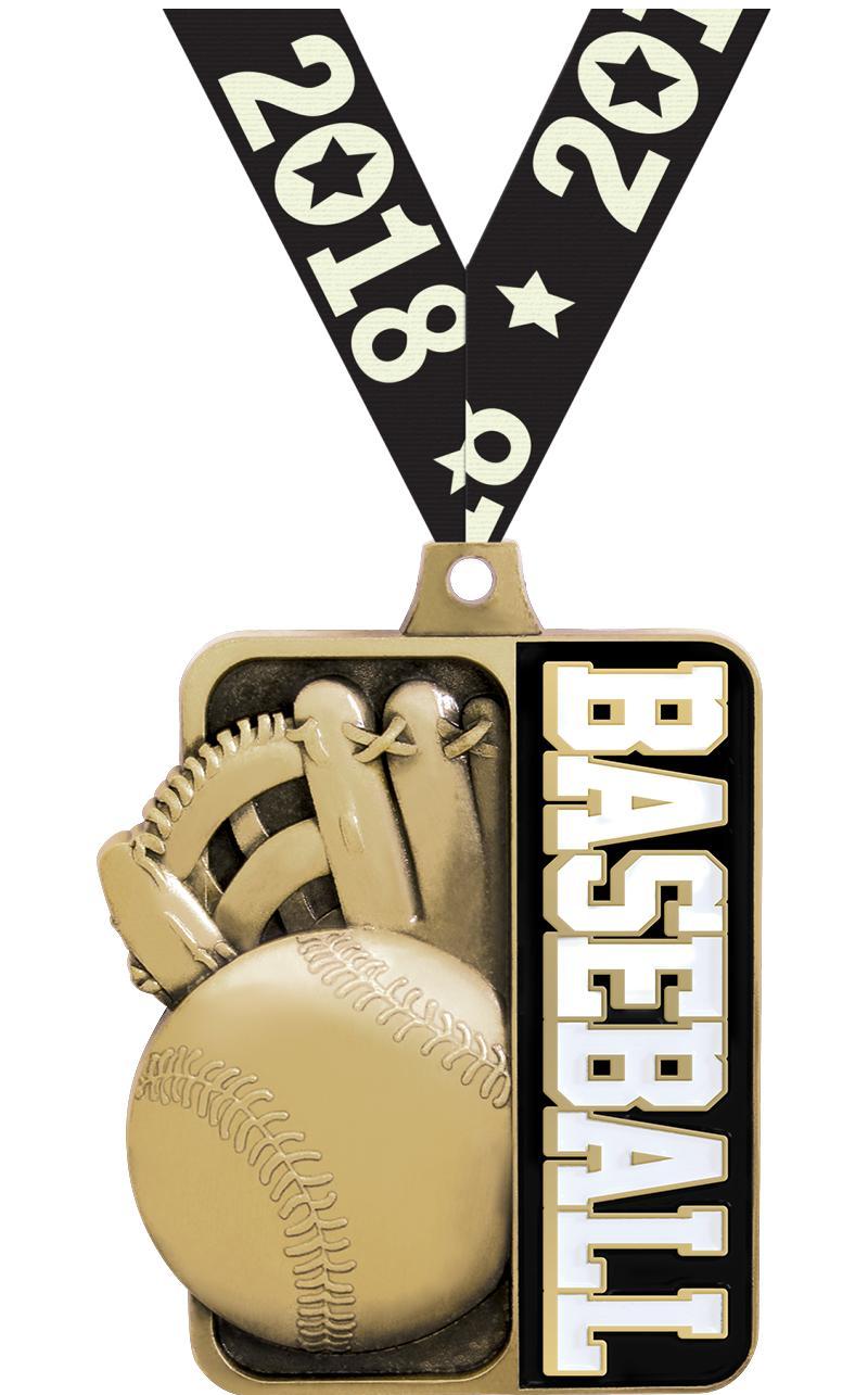 "2 1/4""  Baseball Sportastic  Medal"