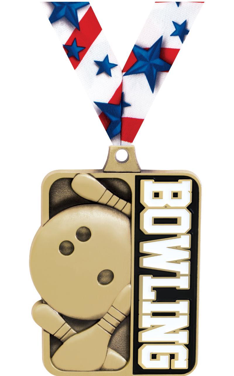"""2 1/4"""" Bowling Sportastic Medals"""