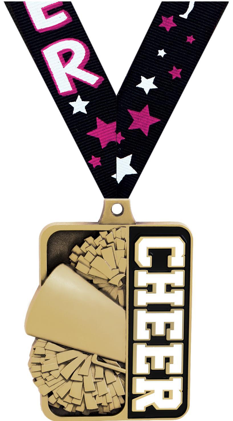 """2 1/4"""" Cheer Sportastic Medal"""