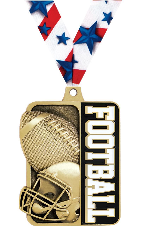 "2 1/4"" Football Sportastic Medal"