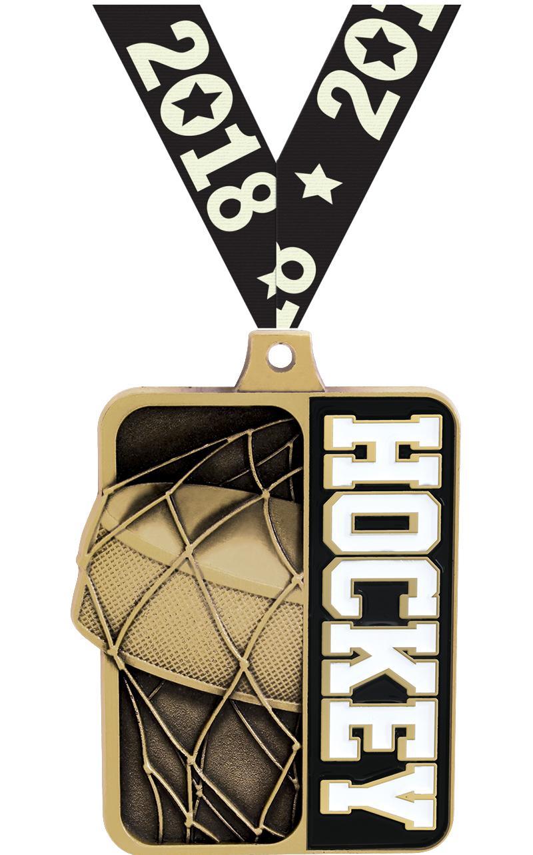 "2 1/4"" Hockey Sportastic Medal"