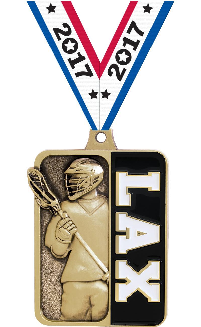 """2 1/4"""" Lacrosse Sportastic Medal"""