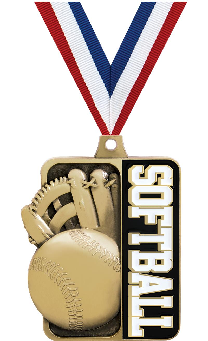 "2 1/4"" Softball  Sportastic Medal"