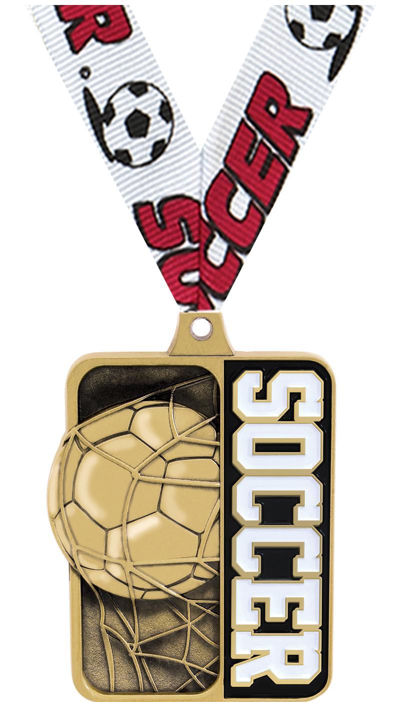"""2 1/4"""" Soccer Sportastic Medals"""
