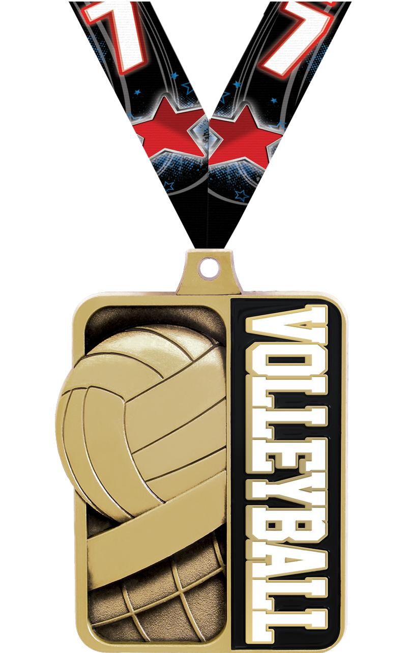 "2 1/4"" Volleyball Sportastic Medal"