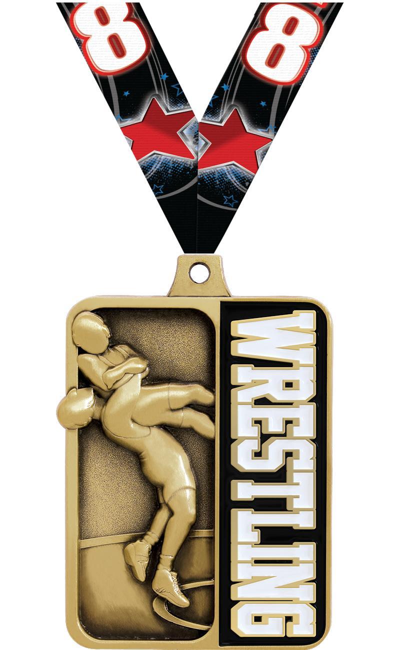 "2 1/4"" Wrestling Sportastic Medals"