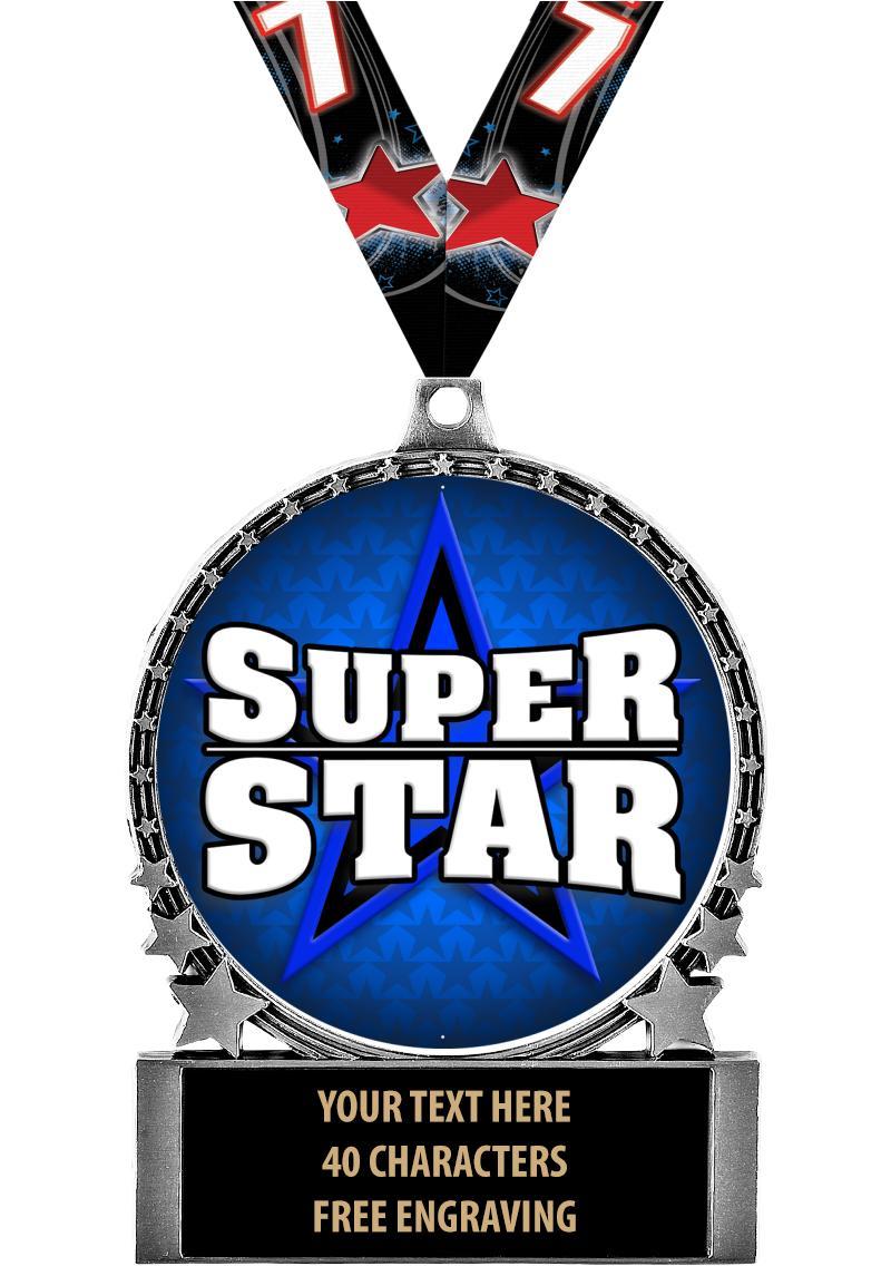 """2 3/4"""" Comet Sport Medal"""