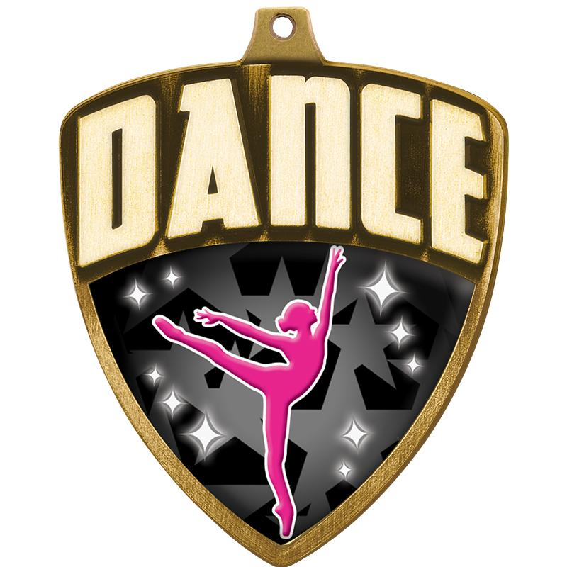 "2.25"" SHIELD DANCE MDL GLD"