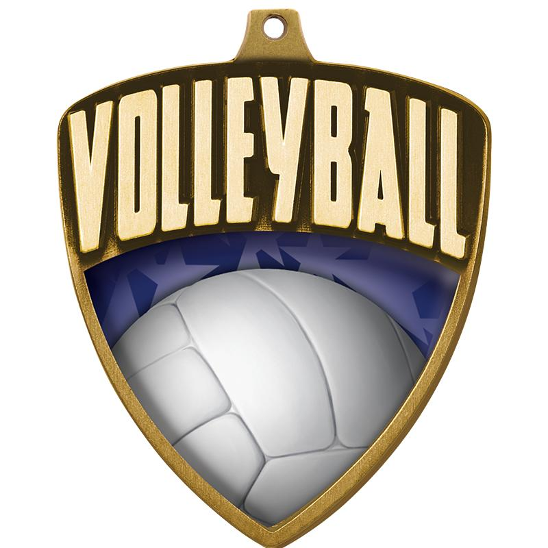 "2.25"" SHIELD VOLLEYBALL GLD"