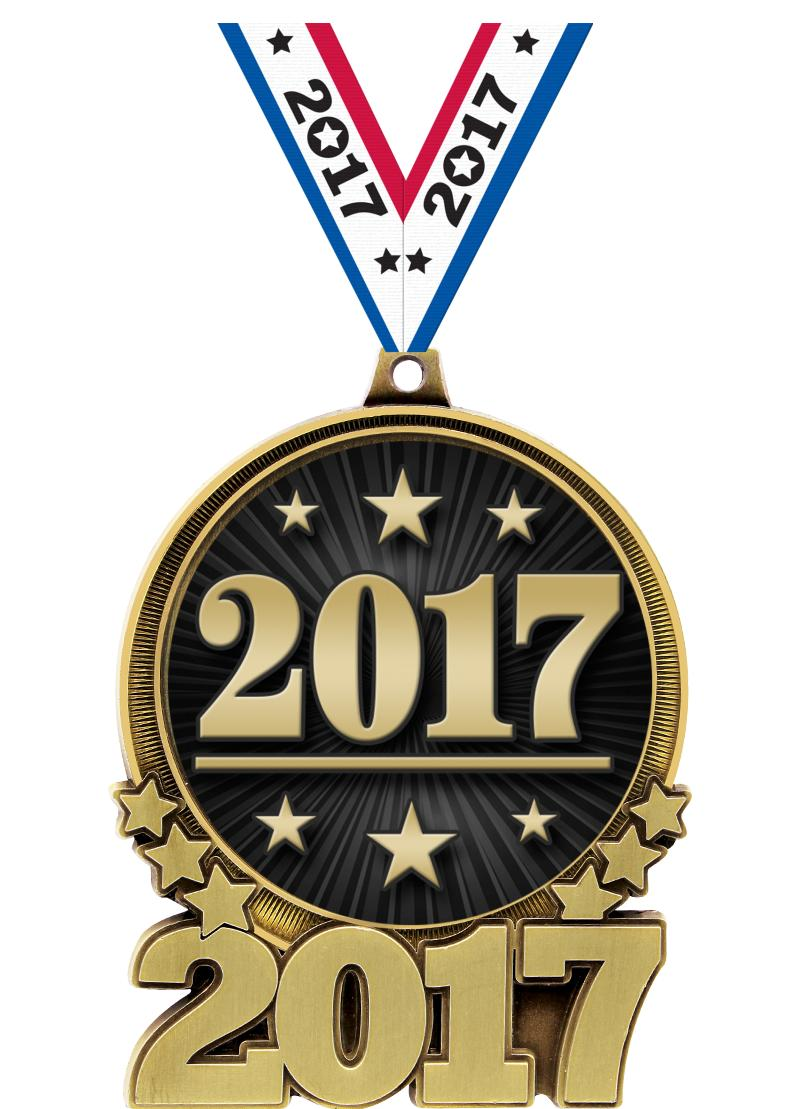 """3"""" 2017 Double Action 2.0 Medals"""