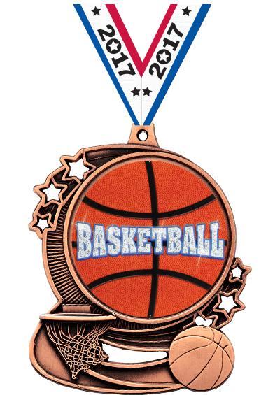 """3"""" Basketball Medal"""