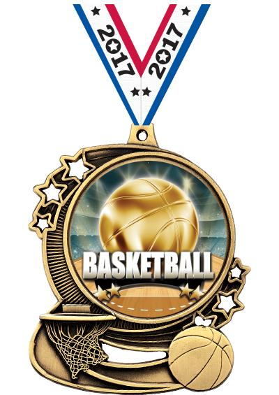 "3"" Basketball Medals"