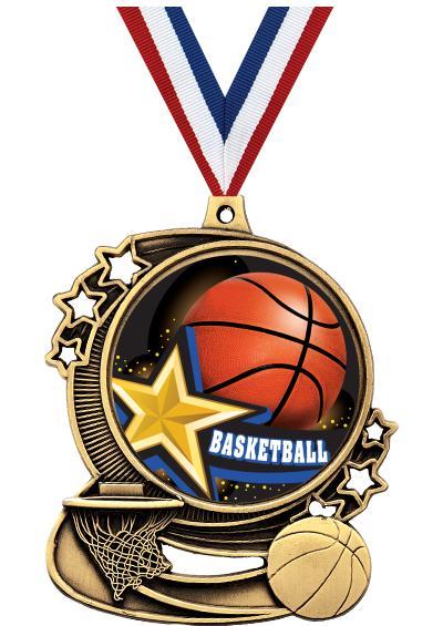 "3"" Basketball Medals"