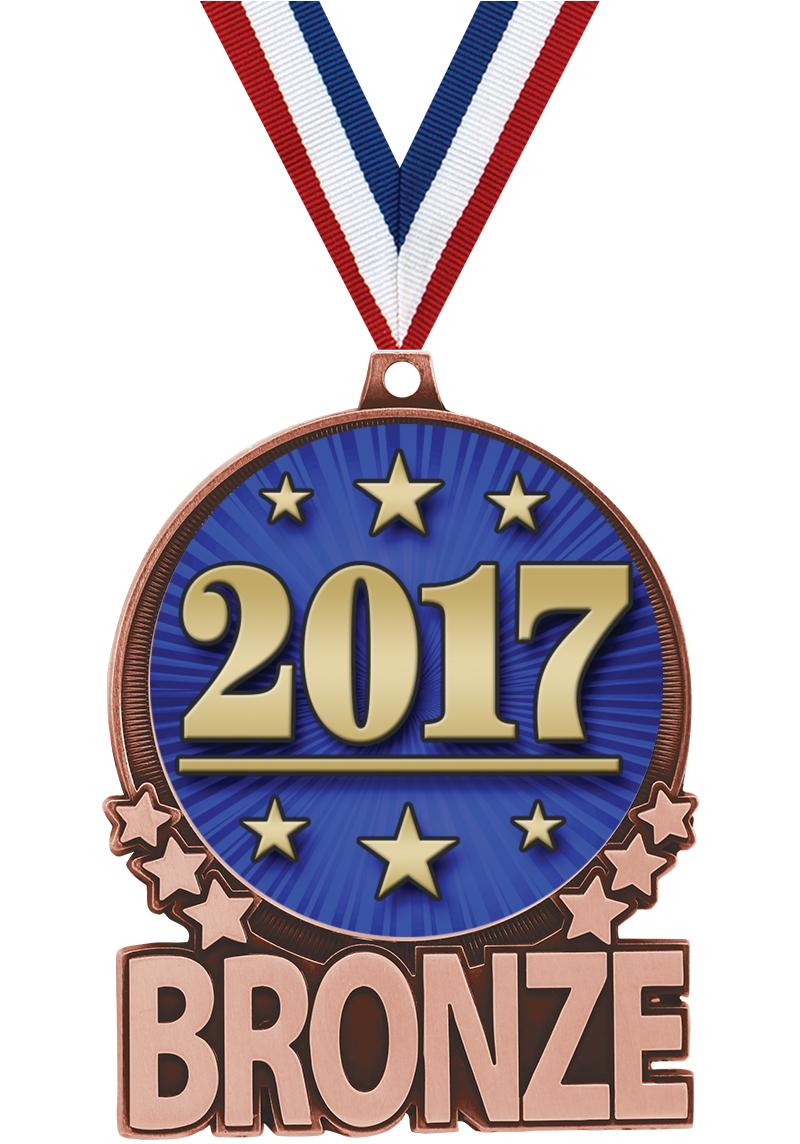 "3"" Bronze Double Action 2.0 Medals"