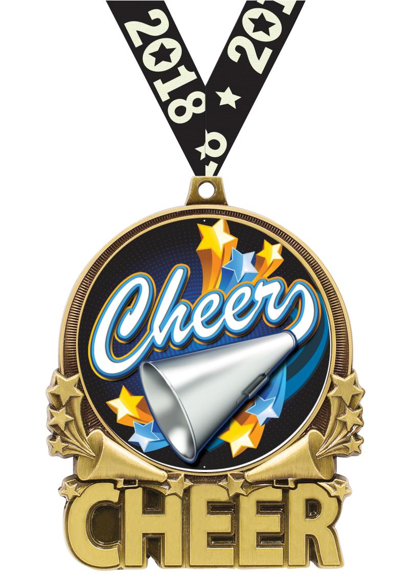 """3"""" Cheer Double Action 2.0 Medals"""