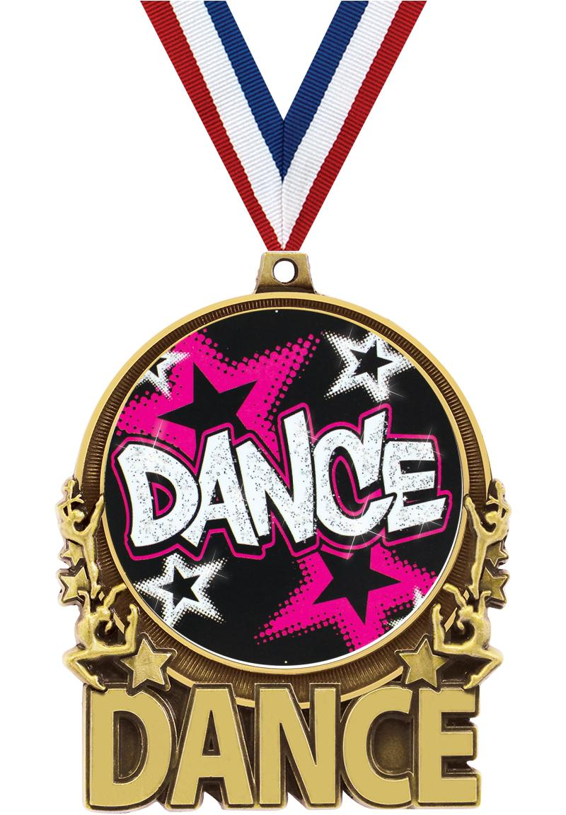 """3"""" Dance Double Action 2.0 Medals"""
