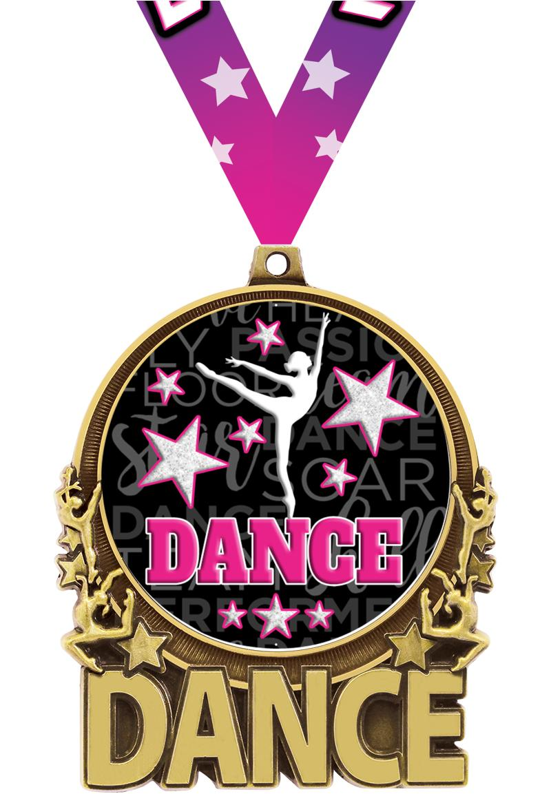 "3"" Dance Double Action 2.0 Medals"