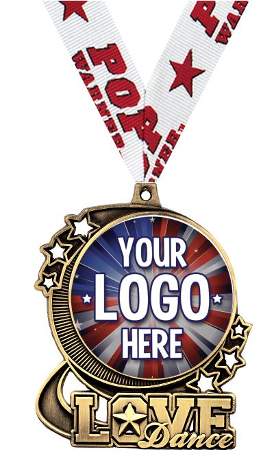 """3"""" Dance Star Double Action Medals"""