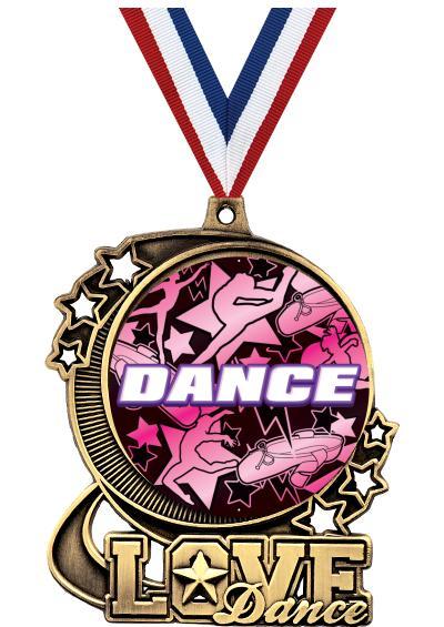 """3"""" DA DANCE INSERT MEDAL GLD"""