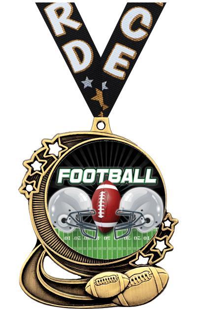 "3"" Football Medals"
