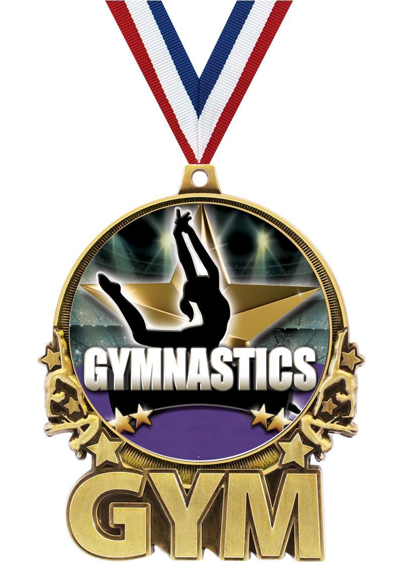 "3"" Gymnastics Double Action 2.0 Medals"