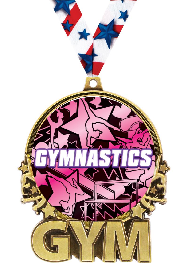 "3"" Gymnastics Double Action 2.0 Medals"