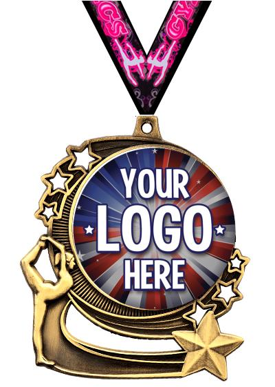 """3"""" Gymnastics Star Double Action Medals"""