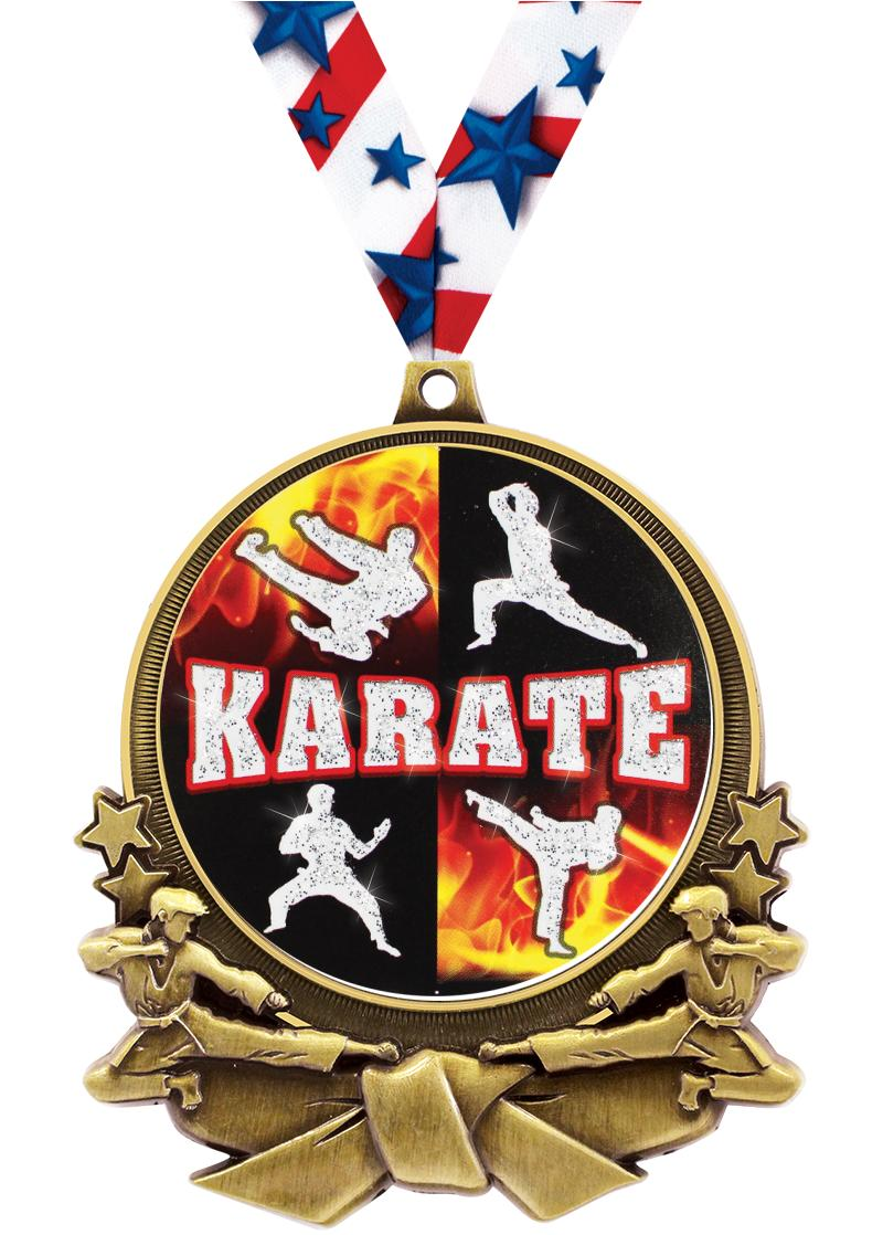"""3"""" Martial Arts Double Action 2.0 Medals"""