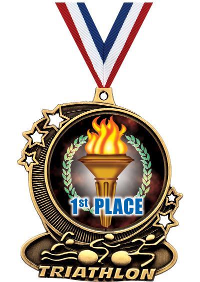 "3"" Triathlon Medals"