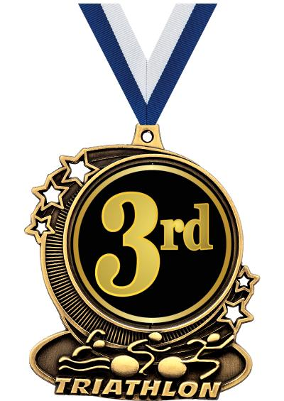 """3"""" DA TRIATHLON INS MEDAL GLD"""
