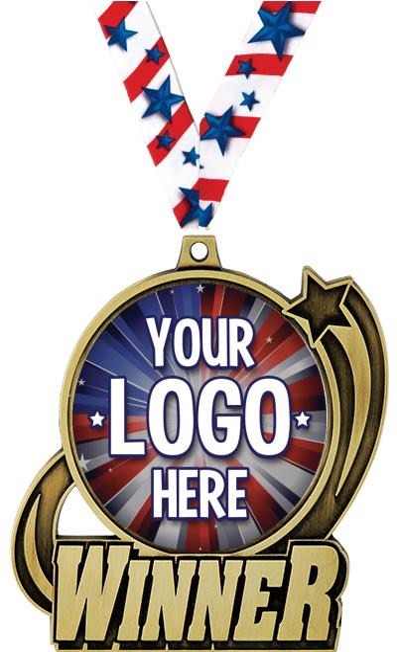 """3"""" Custom Insert Winner Medal"""