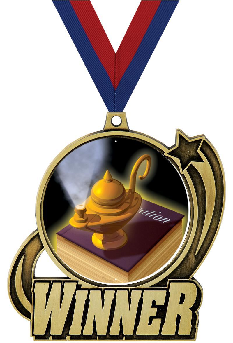 """3"""" WINNER INSERT MEDAL GOLD"""