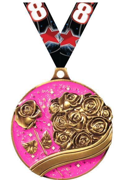 Rose Gold Glitter Medal