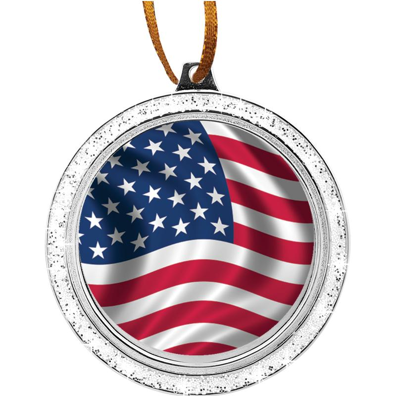 GLITTER MEDALLION ORNAMENT