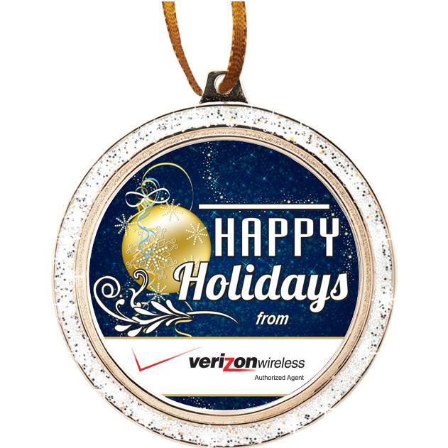 "2 1/2"" Glitter Holiday Ornament"