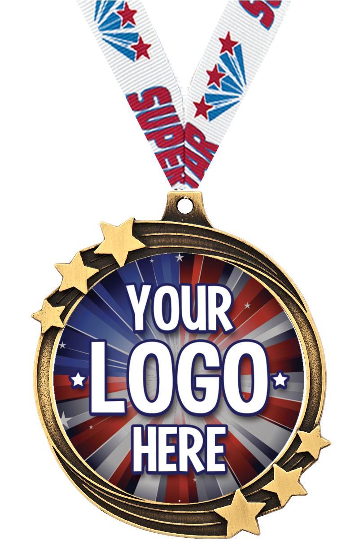 "2 1/2"" Shooting Star Insert Medal"