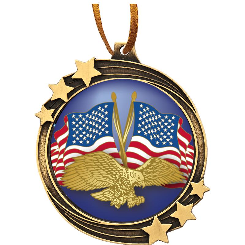 SHOOTING STAR  MEDAL ORNAMENT