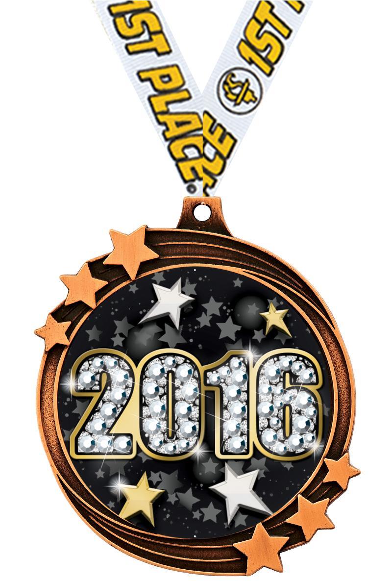 "2 1/2"" Bronze Shooting Star Medal"