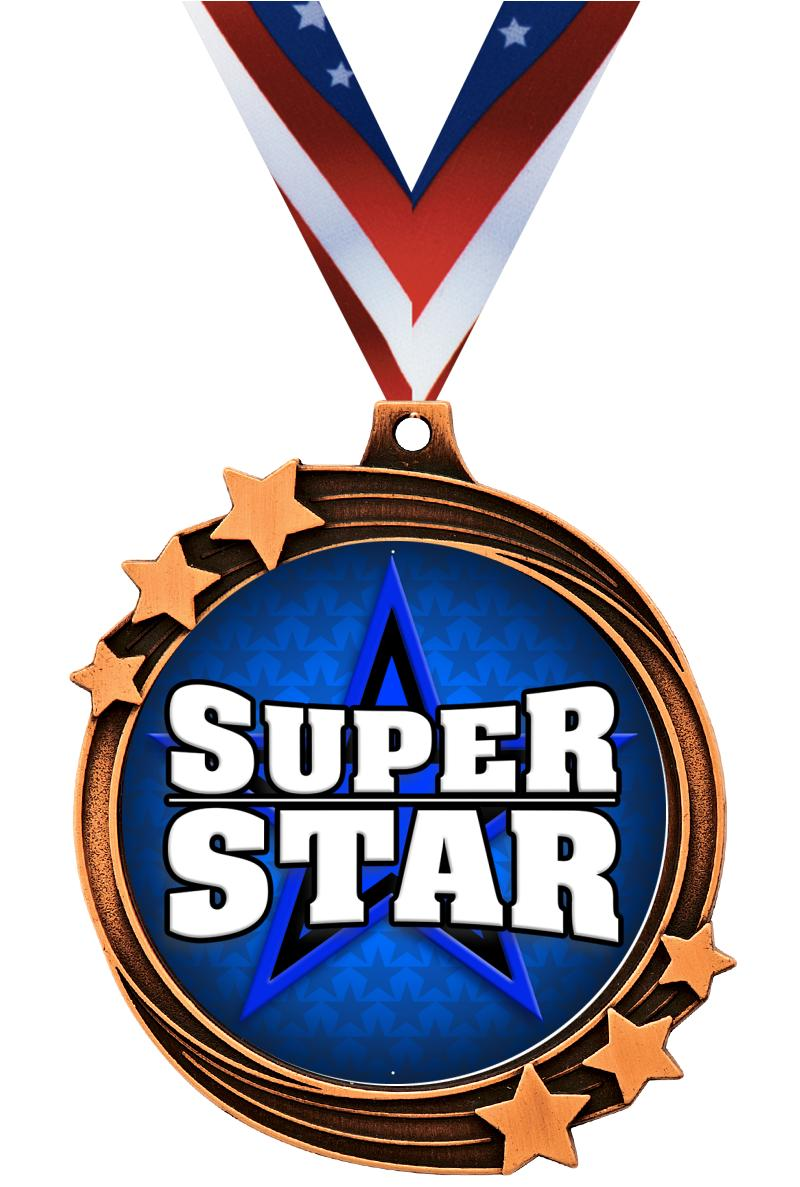 "2 1/2"" Bronze Shooting Star Medal"