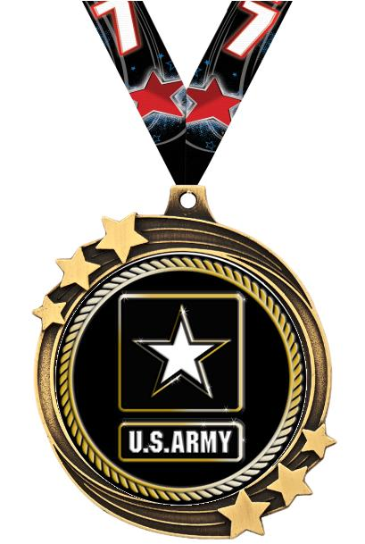 "2 1/2"" SHOOTING STAR MEDAL GLD"