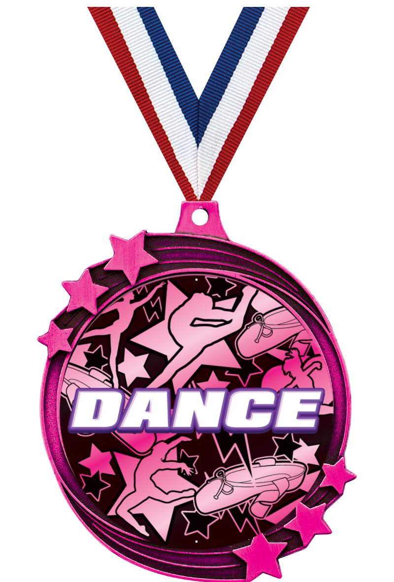 "2.5"" PINK SHOOTING STAR MEDAL"