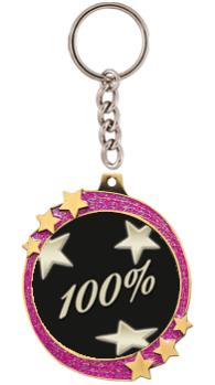 "2.5""PINK GLITTER SHOOTING STAR"